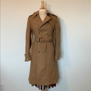 VINTAGE Camel long wool trench coat